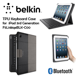 [Belkin] (F5L148qeBLK-C00) Bluetooth Keyboard Case for iPad 3G