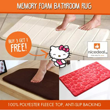 [MUST BUY] Buy 3 Get 1 Free! Memory Foam Bathroom Rug/ Anti Slip/ Microfiber/ Fluffy/ Floor Mat.