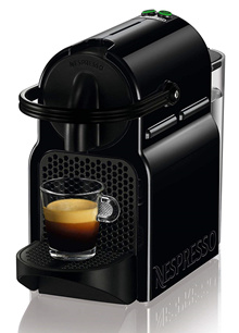 Nespresso Innicia coffee machine EN 80.B (with 16 tasting capsules)