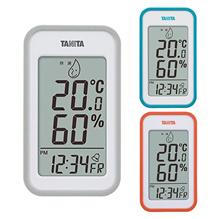 TANITA digital hygrometer TT-559 / 3COLORS / thermometer / hygrometer / clock / alarm / with refrigerator / table clock / wall clock