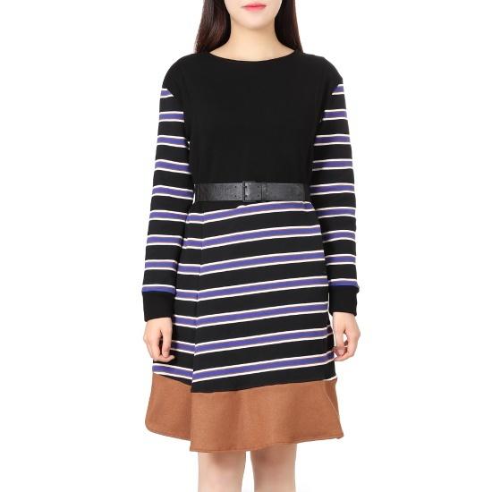 オンエンオンファニユニークSTワンピースNW7WO456ベルト 面ワンピース/ 韓国ファッション