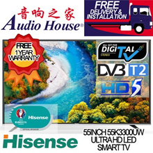 HISENSE 55inch ULTRA HD 4K LED SMART TV WITH DVB-T2 TUNER BUILT-IN FOR HD Channel