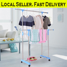 [Local Seller]  Clothes Drying Rack / Clothes Hanger/ Laundry Rack / Garment / Shoes Towel / Movable