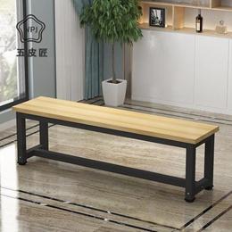 美式长条凳子复古铁艺长凳鞋店换鞋凳公园浴室商场长廊休息凳
