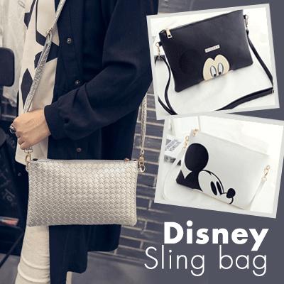 RESTOCK! MICKEY SLING BAG DAN TAS TANGAN / SHOULDER BAG / 3 MODELS / tas wanita tas slempang Deals for only Rp28.000 instead of Rp28.000