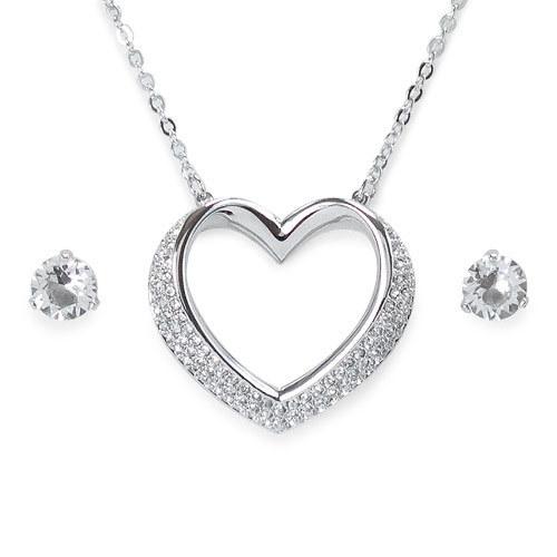 cb4a6f40153b9 Swarovski necklace earring set SWAROVSKI pendant ... - Qoo10