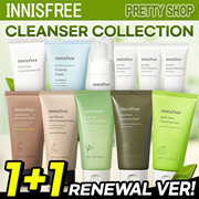 NEVER BEFORE PRICE! 1+1 [Innisfree] Cleansing Foam Line / Cleanser / Apple /Green Tea/bija/Jeju Volcanic Pore