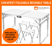 CHEAPEST 120x60 / 70x50 Portable Foldable Aluminium Picnic Table / Great for Outdoor N Picnic