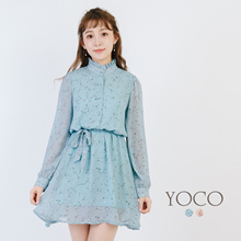 YOCO - Floral Dress with Belt Detail-171882-Winter