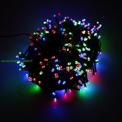 Rgb 100 Led Christmas String Light Outdoor Decoration Fairy Xmas Tree Wedding Holiday Party Garden C