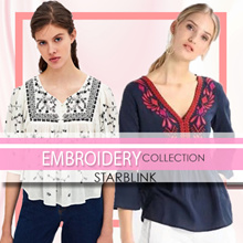 [14 June NEW] Embroidery Blouse Shirts Tshirt Collections