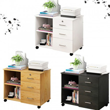 Modern 3 Drawer Wooden Office File Cabinets Bedroom Nightstands Cabinet Bedside Table With Wheels An