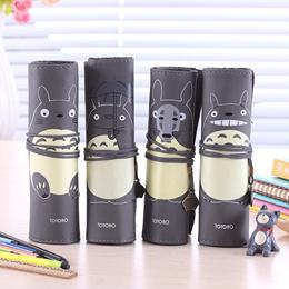 South Korea MUJI Minimalist Stationery Stationery Cute Totoro Roll Pencil Bag Gift Box Stationery Ba