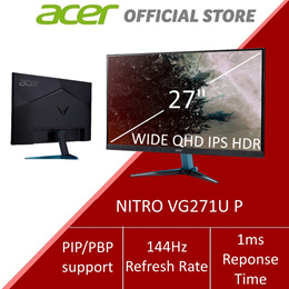 Acer Nitro VG271U P 27-inch Wide QHD IPS Monitor with 144Hz Refresh Rate and 1ms
