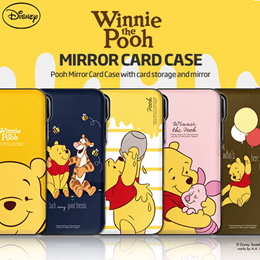 ★Authentic★Disney Pooh Mirror Card Case★Galaxy S10e/S10/Plus/9/8/iPhone/XS/MAX/XR/8/7/G7/V40/케이스
