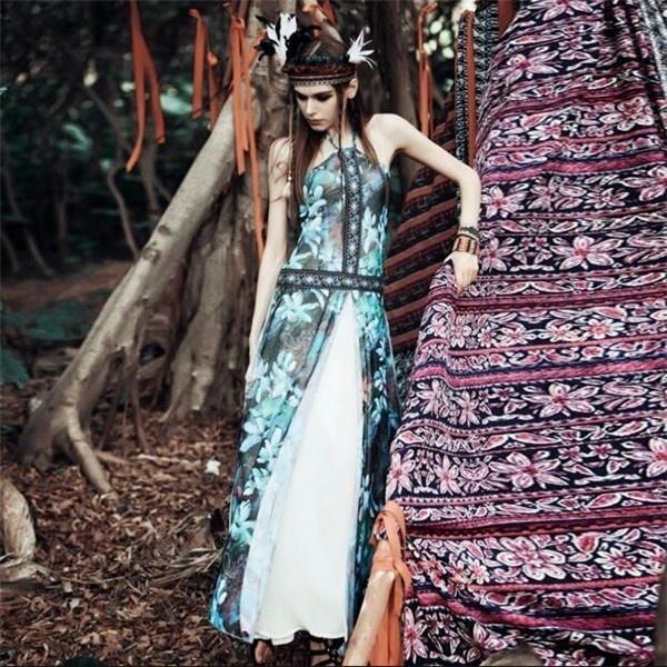 レディースワンピース 通勤/旅行 セクシー 着痩せ ボヘミア風 上品 ファッション 大人気 春夏秋 レディースワンピース