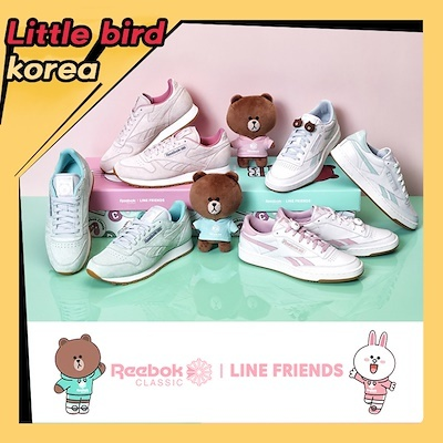 51d7eefa48c0 2018 New Arrivals Reebok x Line friends collaboration sneakers   4 styles    Unisex