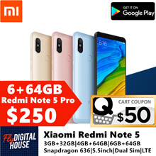 Xiaomi Redmi Note 5 High Edition 6GB+64GB/4GB+64GB/3GB+32GB|With Google Playstore|Export Set