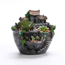 New Creative Flower Pot Home Horticulture Small Sky Garden Fleshy Pan Flower Pot