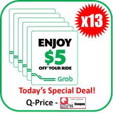 Grab $5 E-Voucher Code X 13EA | Bulk Sale