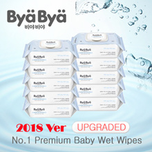 [RESTOCKED!!] 2018 Upgraded!! 800PCS Thick and Safe for Baby★Made in Korea★PREMIUM WET WIPES Bya Bya