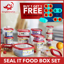 UK WHAM® 14 BOXES SET (28 PCS) SEAL IT FOOD CONTAINER/STORAGE BOX SET | FREE DELIVERY