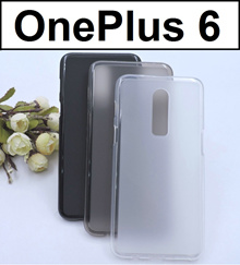 ★ OnePlus 6 Matte Transparent Crystal Clear Case Casing Cover / Tempered Glass Screen Protector