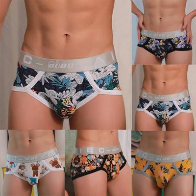 7ea2e01227 Fashion Hot Mens Sexy Underwear Shorts Breathable Underpants Cartoon Prints  Soft Cotton Briefs Panti