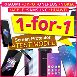 [JD]★Buy 1 Get 2 ★TEMPERED GLASS NEW Model☆♡ iPhone Xiaomi RedMi Huawei OPPO OnePlus Samsung