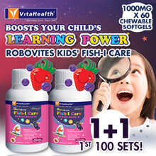 Vitahealth Robovites Kids Fish-I Care 1+1! [Mum No.1 Choice] EXP 2019-04
