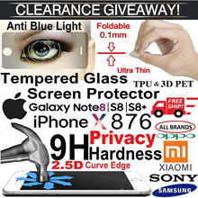 Iphone X/8/7/6/5 Series.SamsungNote-8/5/4/3/S8/S8Plus/J5/J7Prime/A7/A5/A3/Sony/Xiaomi.Tempered Glass