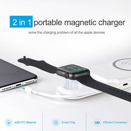 2-in-1 Portable USB Magnetic Apple Watch and Iphone Charger