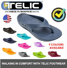 ★Authentic [TELIC]★ USA Flip Flop Sandals ★ Unisex Sandal / Slipper Anatomy Correct Footbed  Comfort