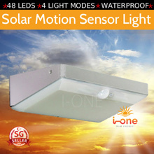 48 LED Solar Powered PIR Motion Sensor Wall Light Outdoor Waterproof Energy Saving Lamp