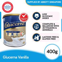 [Single Tin] Abbott Glucerna Triple Care Powder Vanilla 400g