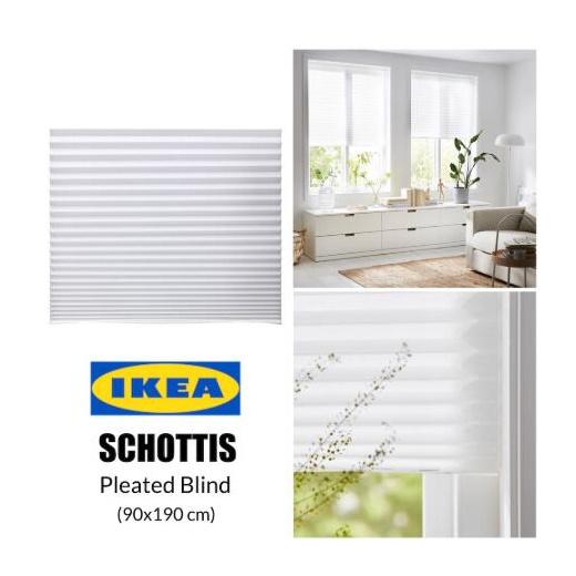 Qoo10 Ikea Schottis Pleated Blind Bidai Berlisu Furniture Deco