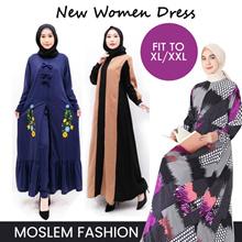 New Women Dress_Moslem Fashion_Robe Dress size Fit XL/XXL