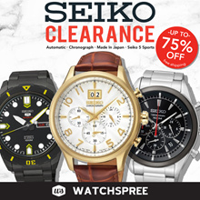 [SEIKO] SEIKO CLEARANCE Up to 75% OFF Chronograph Automatic Watches! Free Shipping Box and Warranty!