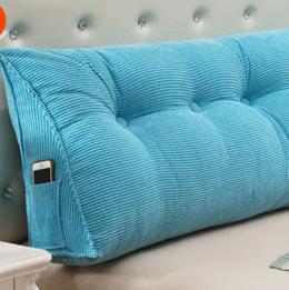 床头三角大靠垫抱枕榻榻米靠枕腰枕 沙发靠背软包 床上大号护腰