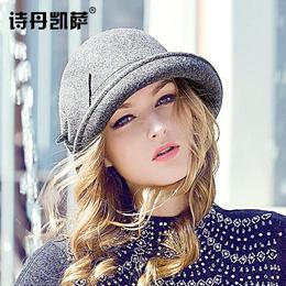 2933fe90e55 Poetry dankaisa autumn and winter ladies retro curl Hat winter Hat New  England wool felt Hat