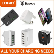 ★Baseus★Ldnio★Multi USB Port Wall Charger★Travel Adapter★PD Type-C Charger★Power Extension Plug