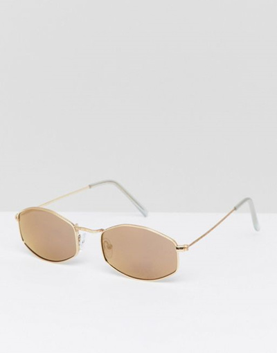 0c953d19c1 Qoo10 - Jeepers Peepers Square Sunglasses In Gold   Men s Bags   Shoes