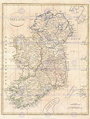 Map Of Ireland Poster.Qoo10 Usa Bumblebeaver 1799 Clement Cruttwell Map Ireland