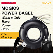 MOGICS Power Bagel - World Only Travel Power Strip | Adapter | Charger | Plug | Socket  //