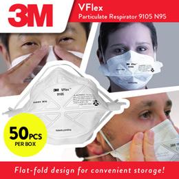 3M™ VFlex™ Particulate Respirator 9105 N95 Mask  (50pcs/box)