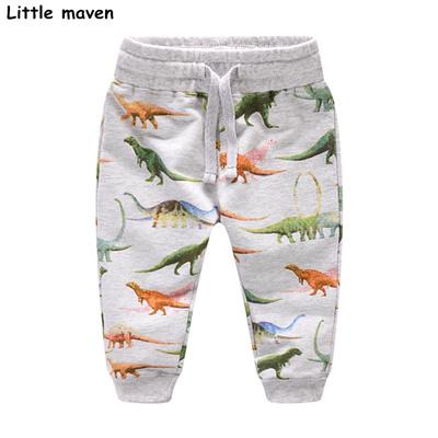 67d96d1470cd2 Little maven Autumn baby boy clothes cotton drawstring pants children s dinosaur  print kids trousers