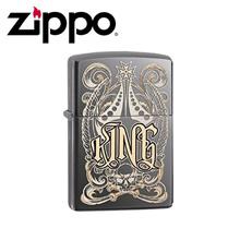 ORIGINAL Zippo Pocket Lighter Black Ice King Design Pocket Lighter / Made in USA