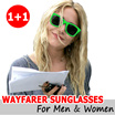 SUPER SALE!! [1+1](Unisex Mens Ladies) Brilliant Wayfarer Festival Sunglasses Shades UV400 Len