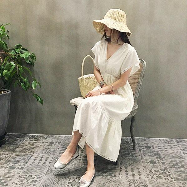 [送料無料]★韓国ファッション通販業界1位 『Naning9』★デルラスレースのワンピース/ おしゃれなシルエットのファッションコーデー提案!