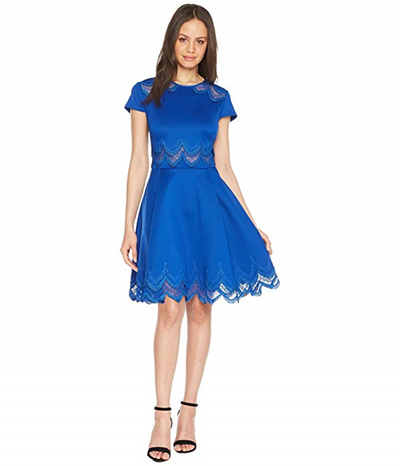 7b90da99699580 Qoo10 - Ted Baker Rehanna Embroidered Cap Skater Dress   Women s ...